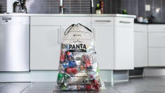 Pantahemma-påsen från Mathem och Pantamera/Returpack lämnas in i samband med Mathem-leveransen.