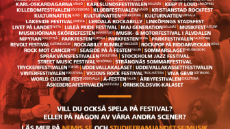 Antalet scensamarbeten mellan landets största musikstudieförbund och landets festivaler har ökat.