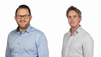 Johan Augustsson, ny projektsäljare, region nordöst och Simon Klang ny på projektsupport i region nordöst.