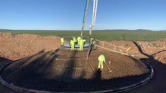 Projektet etablerade en egen betongstation som levererade 24000 kubikmeter betong. Foto: Stefan Björnsson/OX2