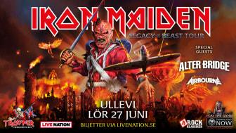 Heavy metal-jättarna Iron Maiden till Ullevi i sommar