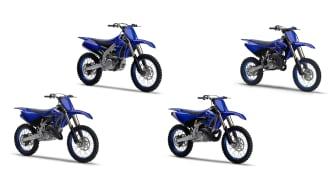 (左より)「YZ125」、「YZ450F」、「YZ250」、「YZ85」
