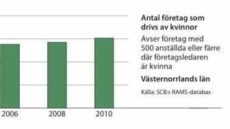 Kvinnors företagande ökar i Västernorrlands län