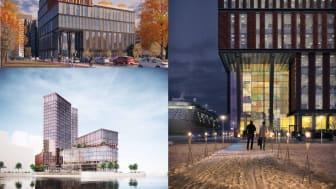Visionsbilder Pirhuset, Portalen och Saluhallen, Värtahamnen