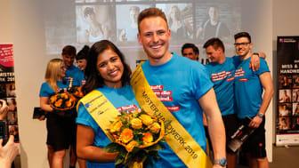Priyanka Balamohan und Robert Dittrich sind Miss und Mister Handwerk 2019. Jetzt geht der Wettbewerb in sein zehntes Jahr. Foto: Werbefotografie Weiß