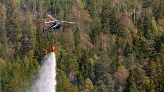 Helikopter för brandbekämpning