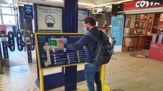 £700,000 has been invested to improve accessibility at 33 stations (see ed's notes for full list). Stevenage has new tactile maps with raised symbols and lettering for people who are blind or partially sighted
