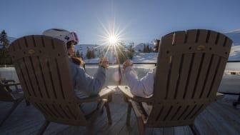 Påskekos i sola . Foto: Ola Matsson/Skistar Trysil