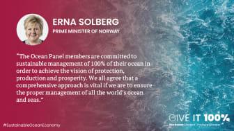 Statsminister Erna Solberg, sitat