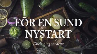 Föreläsning om detox för en sund nystart i Stockholm (öppen för allmänheten)