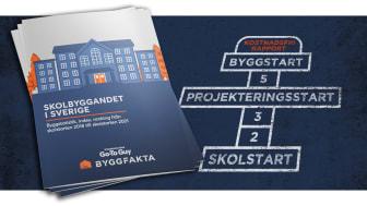 Färsk rapport om skolbyggandet i Sverige - de 65 mest aktiva byggföretagen inom skolbyggandet och byggstatistik med projekterings- och byggstarter från skolstarten 2018 till skolstarten 2021.