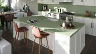 Silestone Sunlit Days Posidonia Green_kitchen
