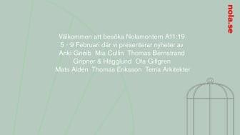 Nola visar nyheter under Stockholm Furniture Fair och Stockholm Design Week