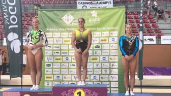 Lina Sjöberg på tredje plats efter finalen i DMT på Loulé World Cup 2018