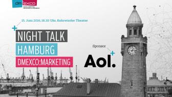 """""""The Future is Programmatic"""". Unter diesem Titel findet am 15.6. in Hamburg das Finale der dmexco Night Talks 2016 statt."""