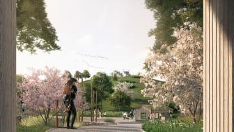 Nya lekplatsen är inspirerad av boken Bröderna Lejonhjärta