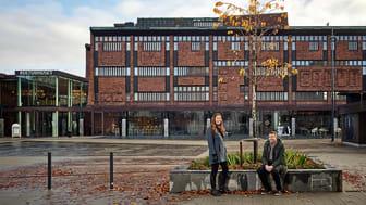 Från vänster: Katrine Hermansson och Lars Ylander, Norconsult. Foto: Krister Engström