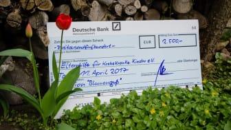 procilon überreicht Spendenscheck an Elternhilfe für krebskranke Kinder