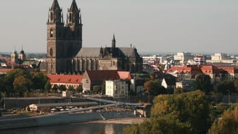 Magdeburg Cathedral in summertime