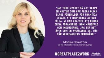 Martina Flemström, VD för Mondelēz International i Sverige