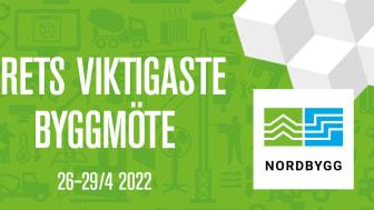 Nordbygg flyttas till 26–29 april 2022