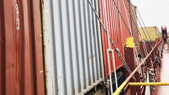 Surrning, den metod aom används för att säkra gods på fartyget.