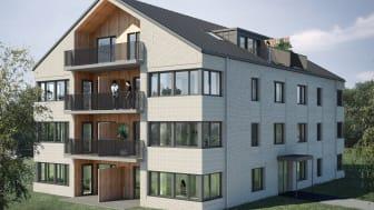 Punkthusen i Smålandsstenar ska erbjuda fler och varierade bostäder i området.