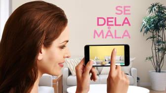 Nordsjös innovativa mobil-app provmålar väggarna utan ett enda penseldrag