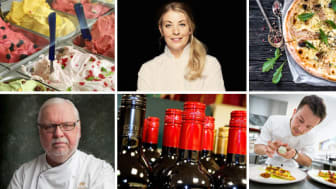 Några av matprofilerna på GastroNord, från vänster: Leif Mannerström, Frida Ronge och Edin Dzemat.