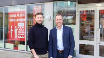 Daniel Sundell, ansvarig Digital Affär och Jan Kahlin, Chef Butik är båda nöjda över tjänsten som kopplar ihop Würths e-handeln med Würths butiker.