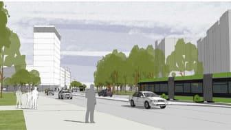Stenströms nya kontorslokaler och fler parkeringsmöjligheter tillför viktiga delar till ett Drottninghög i förändring.
