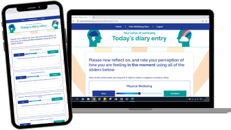 Online diary helps NHS and care staff monitor changes in wellbeing and get support