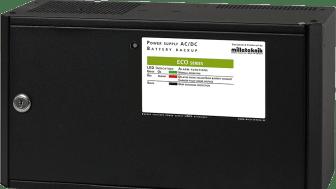 Bilden visar en batteribackup som är ett reservkraftsystem för att strömförsörja exempel vis ett passersystem.