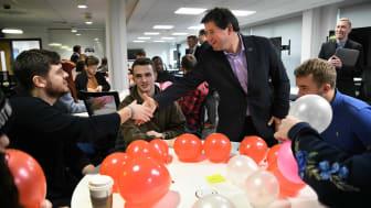 Northumbria alumnus Chris Jones returns to the University to meet current students