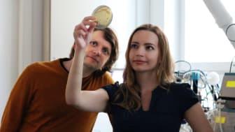 Anastasia Krivoruchko, CEO, och Florian David, CSO, på Melt&Marble