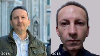 Ahmadreza Djalali, 2016 och 2018 ©Amnesty International