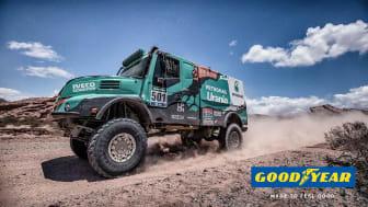 De Rooy-teamet siktar på att vinna Dakar-rallyt i 2017 på lastbilsdäck från Goodyear