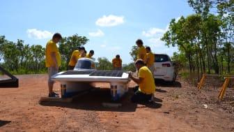 Solbilen på plats i Australien