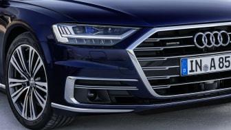 Audi A8 with HD Matrix LED headlights including Laser spot