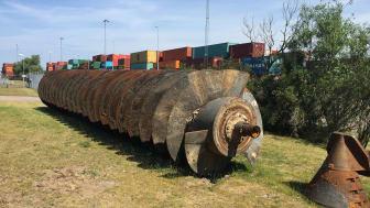 Inloppsskruv Öresundsverket - före renovering