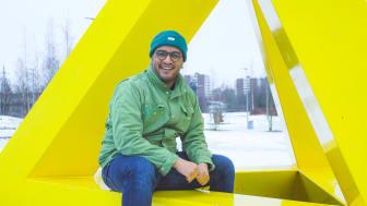 Omar Samy Gamal i Rommensletta skulpturpark