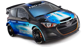 Hyundai viser oppgradert i20 WRC i Genève