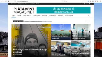 Utökad utgivningstakt samt ny webbdesign för Plåt & Vent Magasinet!