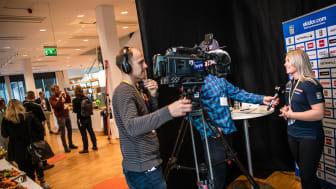 Dags för Svenska Skidförbundets årliga medieupptakt. Foto: Bildbyrån.