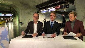 Daniel Helldén (mp), Kristoffer Tamsons (M) & Tomas Eriksson (mp)