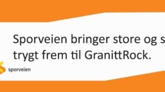 Sporveistoget tar deg til GranittRock!