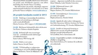 SVUs informationsblad nr 1 februari, 2014