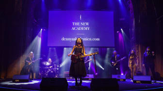 Nike Markelius performing at The New Academy Prize in Literature ceremony
