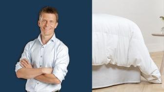 Hjärnforskaren Ole Petter Hjelle säger att tyngdtäcken kan hjälpa personer med sömnproblem.