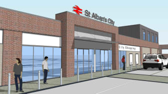 New-look: An artist's impression of St Albans station (high res versions of this and other pictures can be found at the bottom of this press release)